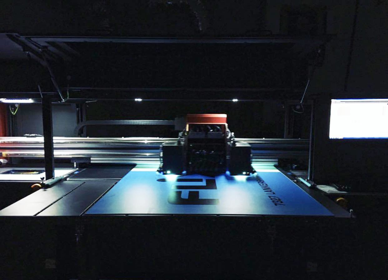 """4 Color Flat Bed Printer: 60"""" wide x Unlimited length"""
