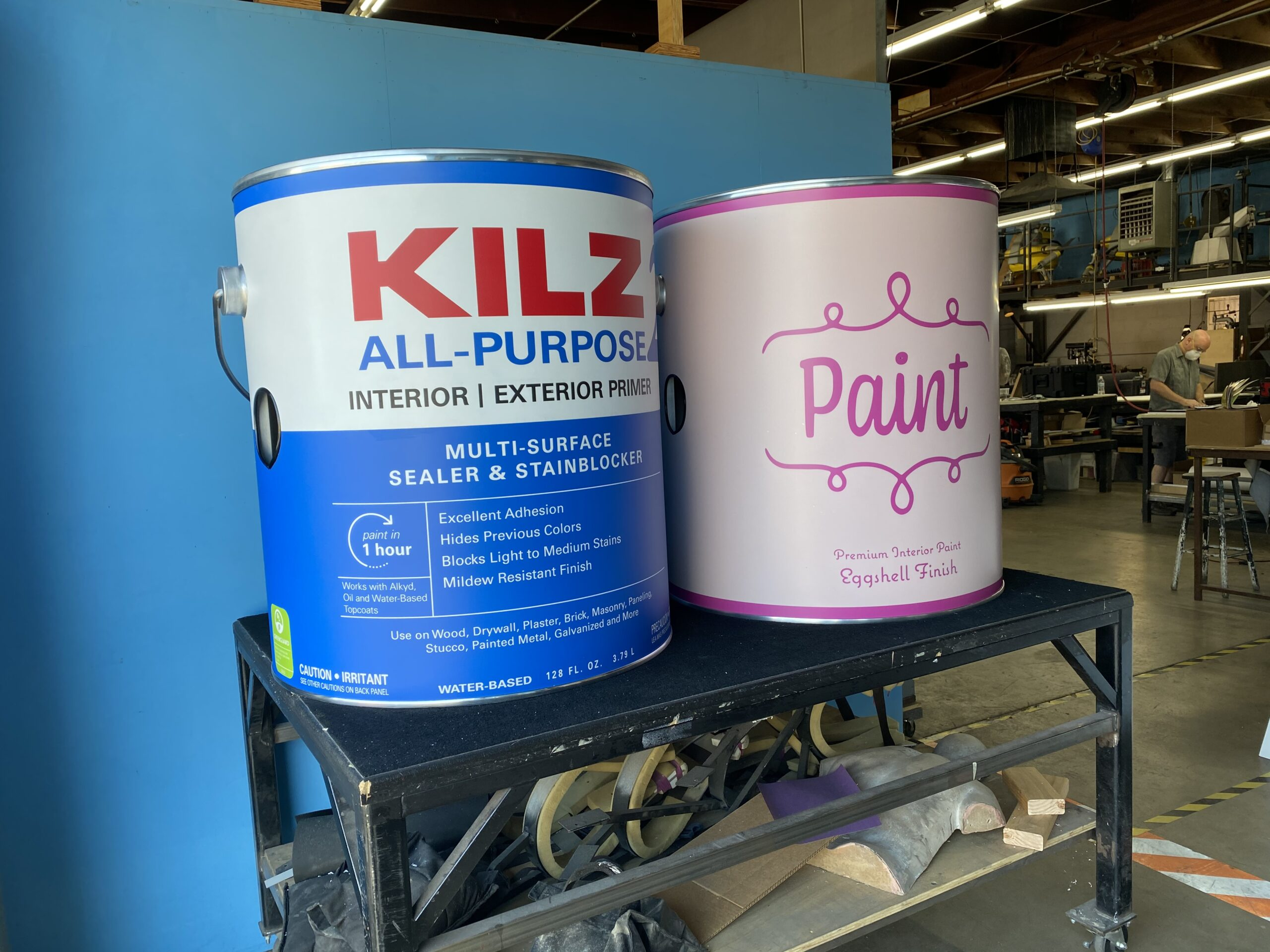 Custom Paint Cans: Design, CNC Milling, Metal Fabrication, Carpentry, Vacuforming, Flat Bed Printing, Model Making & Lamination.