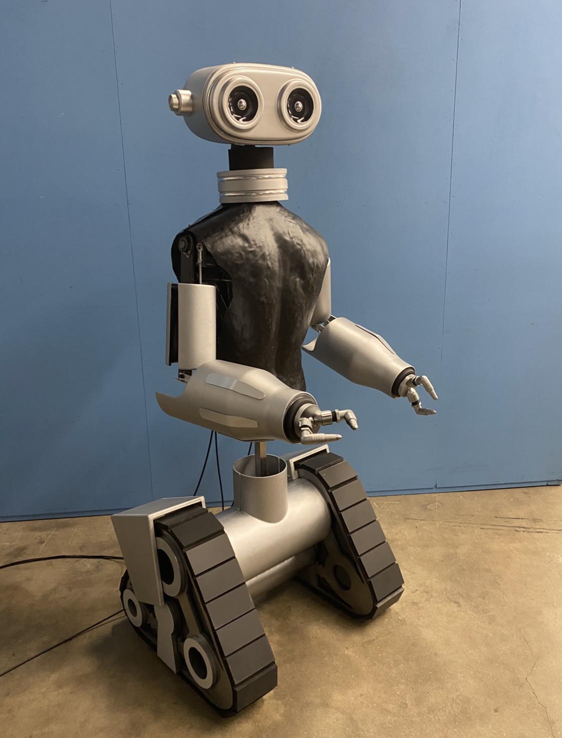 Toyota Robot: Manually operated, shoulder rotation, head tilt.