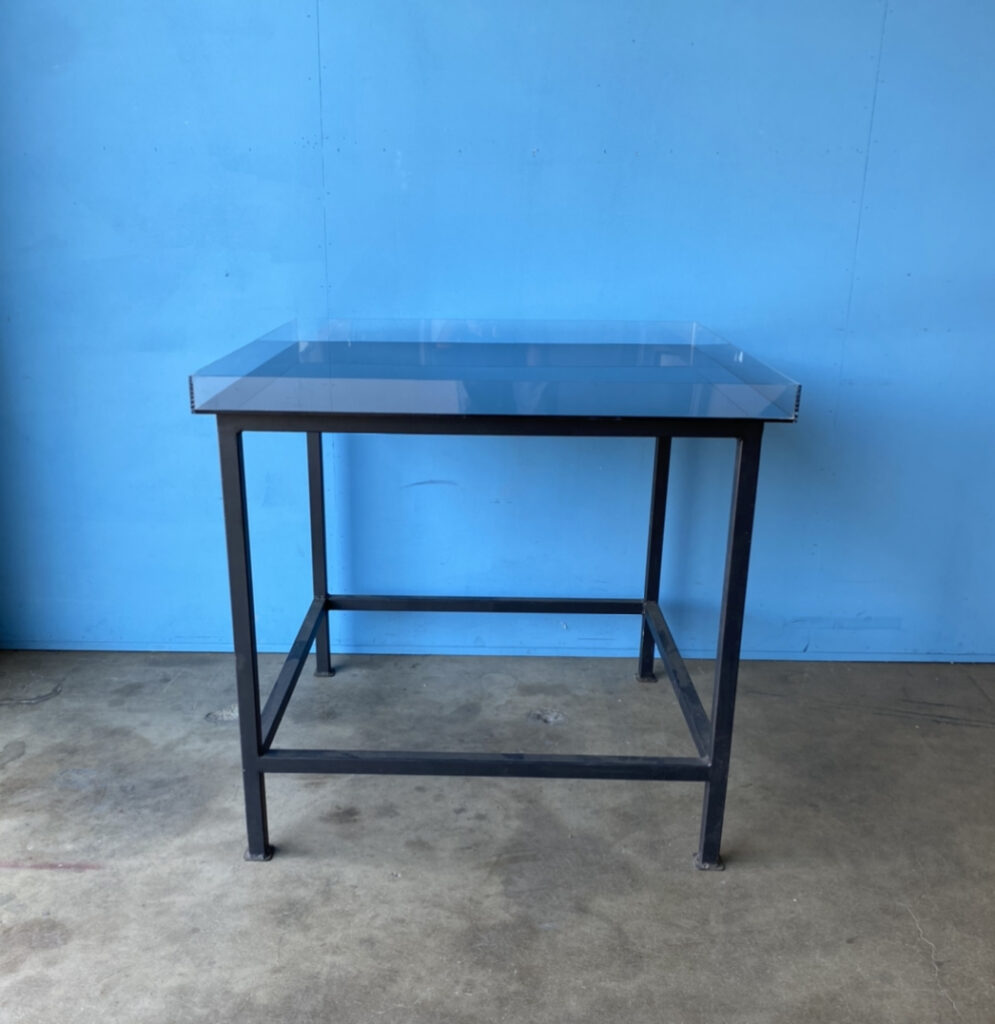 "Acrylic Tank, black bottom: 36"" x 36""x 2.5"""