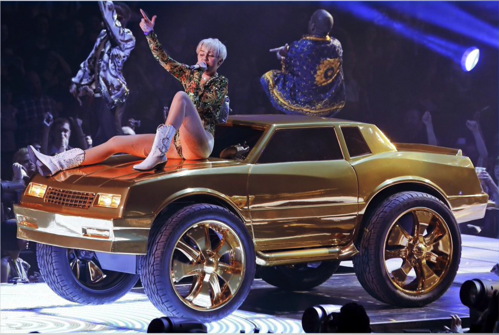 Custom Vehicles: Miley Cyrus Custom Car: 3D Design, CNC Milling, Fiberglass Mold, Vacuforming, Scenic Paint, Mechanical, Metal and Acrylic Fabrication.