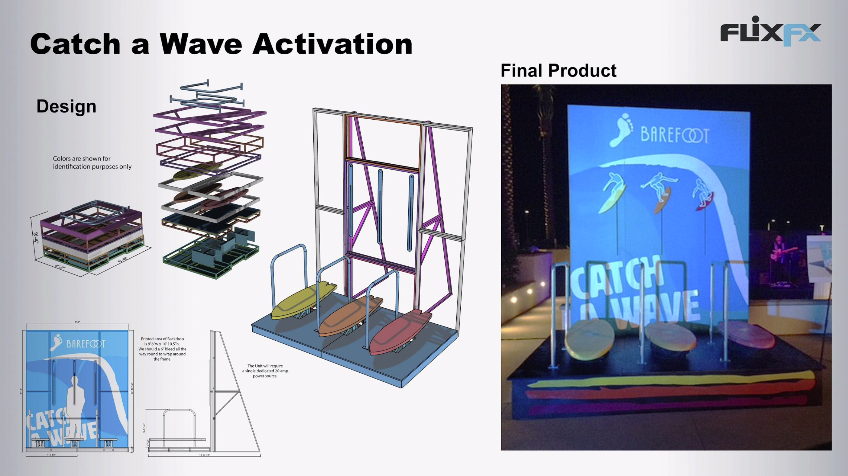 Barefoot Activation: Design, CNC Milling,Mechanical Fabrication, LED's, Electronics, Manual Machining, Plasma Cam, Metal Fabrication, Printing & Model Making.